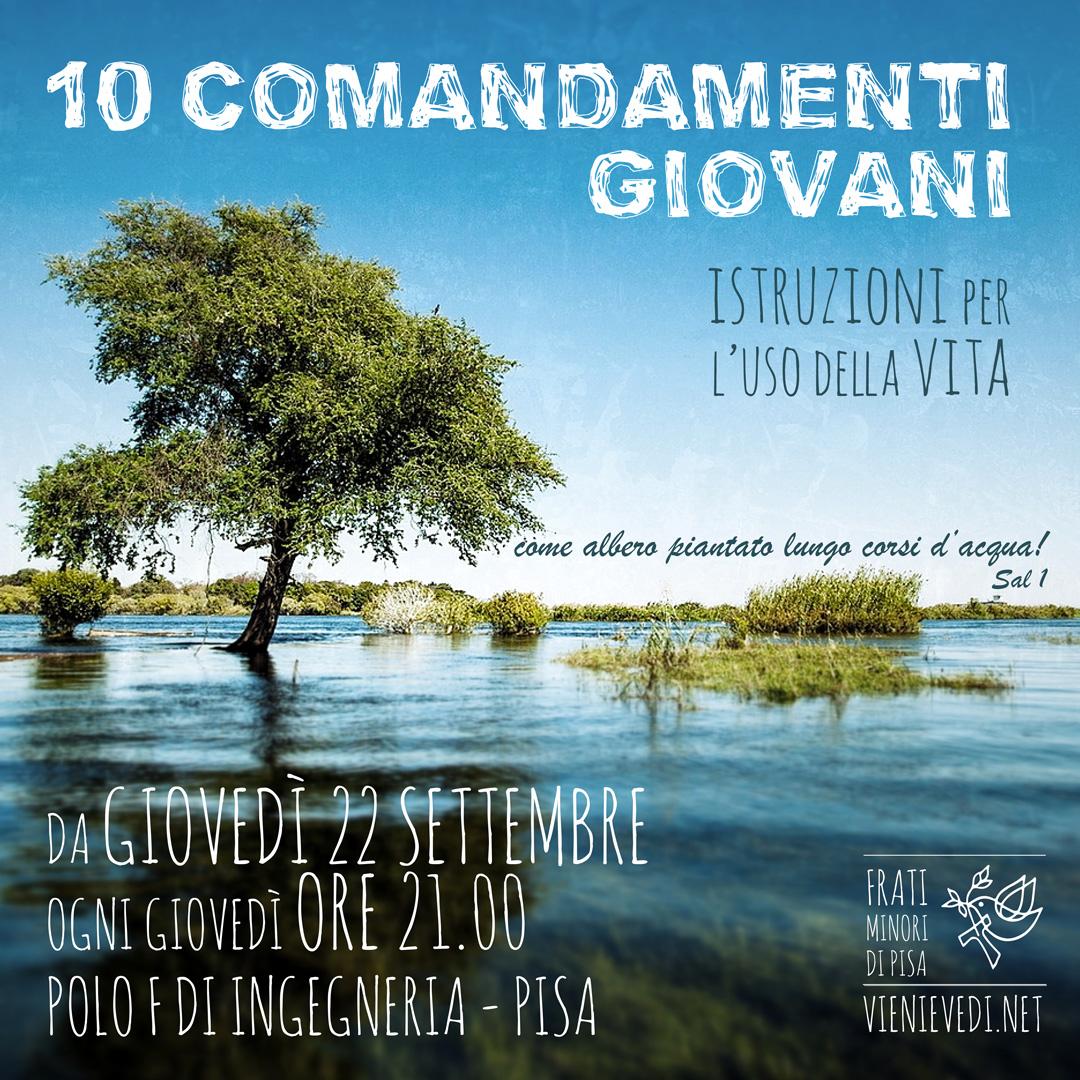 10 comandamenti giovani a Pisa